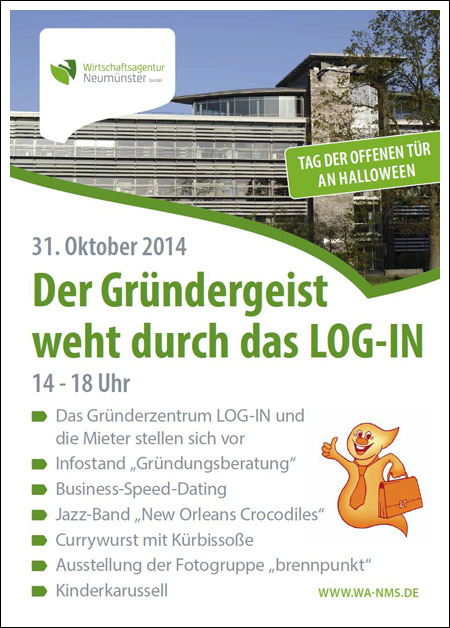 Industrieausstellung im Log-In